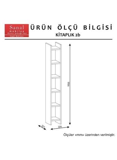 Sanal Mobilya Sirius Dolaplı Kitaplıklı 2 Raflı Çalışma Masası 140-Dk-7-2B Beyaz